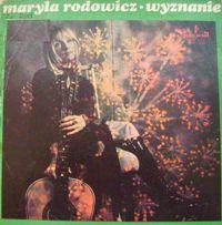 Марыля Родович (Maryla Rodowicz)обложки альбомов  1972 Wyznanie